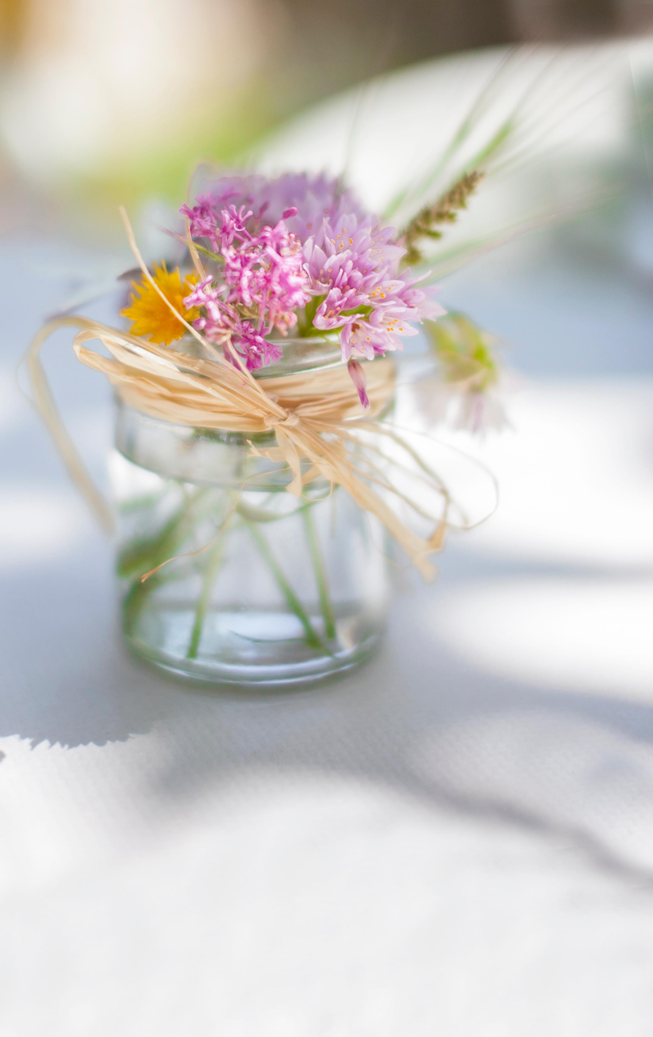 słoik jako wazon