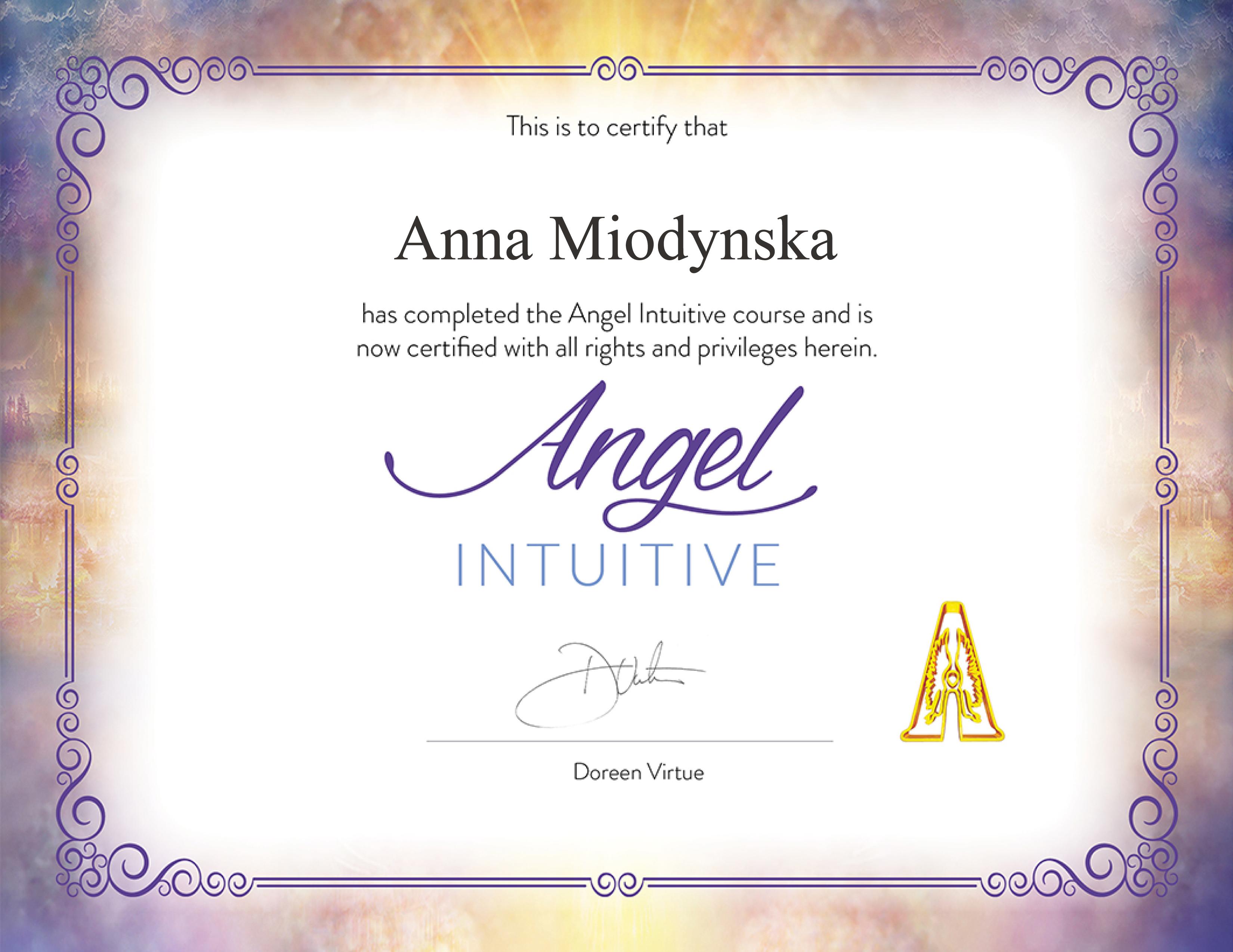 Anna Miodyńska = profesjonalne odczyty kart anielskich